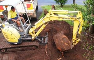 2. Driveway Extension Prep boulder removal