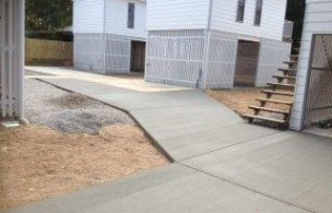 Granny flat driveway