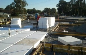 3 Town House Development Waffle Pod Slab Prep