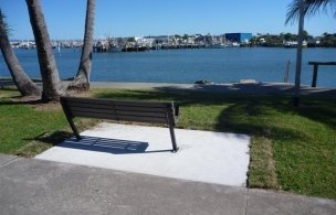 2 Disabled Access Compliant Park Chair Slab